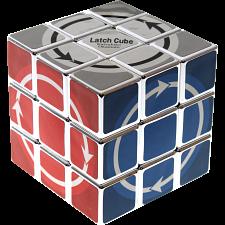 Latch Cube - Metallized Silver Body -