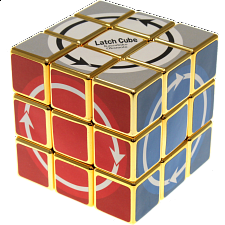 Latch Cube - Metallized Gold Body -