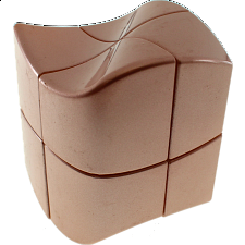 YJ 2x2x2 Wave Cube - Rose Golden -