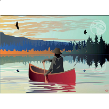Lone Canoe -