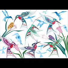 Garden of Hummingbirds -