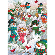 Hill Of A Lot Of Snowman - Large Piece -