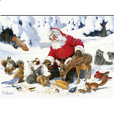 Santa Claus And Friends - Family Pieces Puzzle -