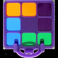Four Color Chroma Slide Puzzle -