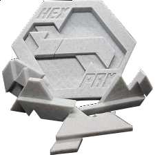 Hex Pak Two Layer Packing Puzzle -