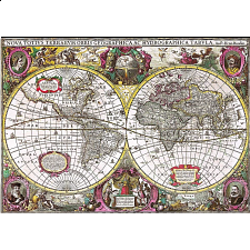 A New Land and Water Map of the Entire Earth, 1630 -