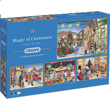 Magic Of Christmas - 4 x 500 Piece Puzzles -
