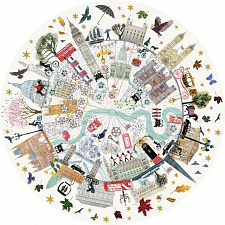 London Buildings - Circular Jigsaw Puzzle -