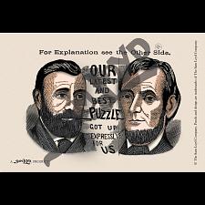 The Three US Presidents Postcard -