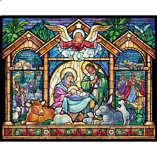 Stained Glass Nativity -