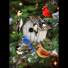Winter Birdhouse -