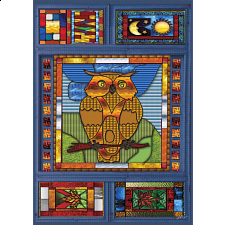 Stained Glass Owl -