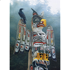 Totem Pole in the Mist -