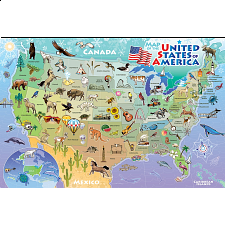 Floor Puzzle: Map of the USA -