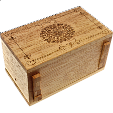 Secret Lock Box (Rubberwood) - Premium with Mandala Artwork -