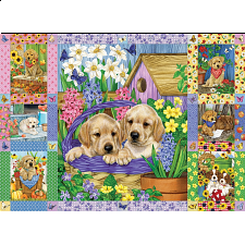 Puppies and Posies Quilt -