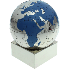 Magnetic Puzzle Globe - BLUE -