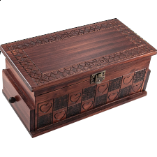 Heart Trick Box - Large Brown -