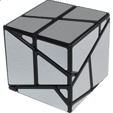 Ghost Skewb - Black Body with Silver Labels -