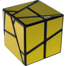 Ghost Skewb - Black Body with Gold Labels -