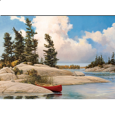 A Day At The Lake - Large Piece -