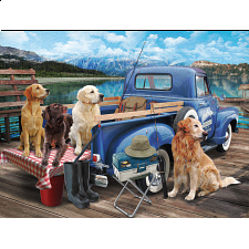 Dogs Gone Fishing -