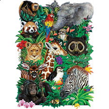 Safari Babies - Family Pieces Puzzle -
