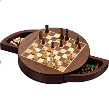 Rounded Chess Set - Magnetic (Field 25 mm) -