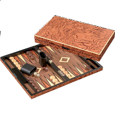 Deluxe Iraklia Backgammon - Large (Rosewood Design) -