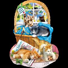 Free Kitties - Shaped Jigsaw Puzzle -