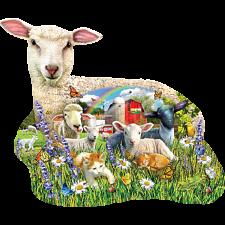 Lamb Shop - Shaped Jigsaw Puzzle -