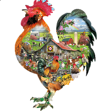 Rule the Roost - Shaped Jigsaw Puzzle -