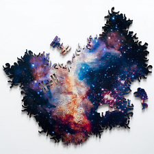 Infinite Galaxy #2 Wooden Jigsaw Puzzle - Double-sided -