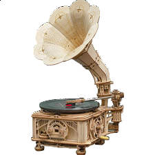 ROKR Wooden Mechanical Gears - Classical Gramophone -