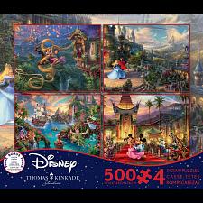 Thomas Kinkade: Disney 4 in 1 Jigsaw Puzzle Collection #7 -