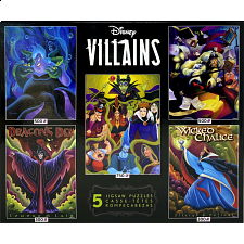 Disney Villains: 5 in 1 Jigsaw Puzzle Multi-Pack -