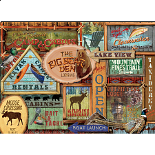 Rustic Lodge: Rustic Signs -