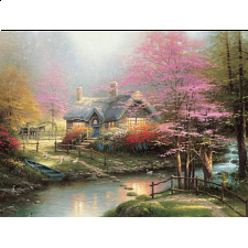 Thomas Kinkade: Inspirations - Stepping Stone - Large Piece -