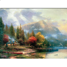 Thomas Kinkade: The End of a Perfect Day- Large Piece -