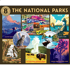 8 in 1 Multi-Piece Puzzle Set - The National Parks -