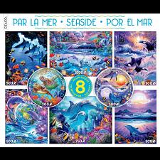 8 in 1 Multi-Piece Puzzle Set - Seaside -