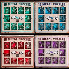 10 Metal Puzzles - Set of 4 -