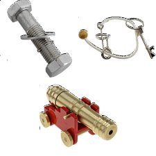 Set of 3 NEW Puzzle Master-Cannon, Roller Coaster, Trick Bolt 3 -