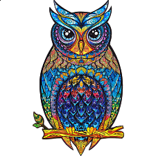 Mysterious Owl - Animal Shaped Wooden Jigsaw Puzzle -