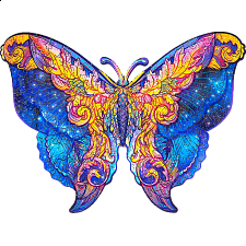 Mysterious Butterfly - Animal Shaped Wooden Jigsaw Puzzle -