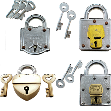 Group Special - a set of 4 Trick Lock puzzles -