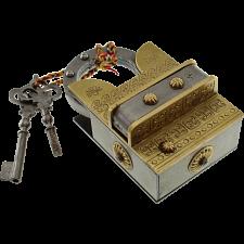 15 Step Extreme Brass & Iron - 2 Key Puzzle Lock -
