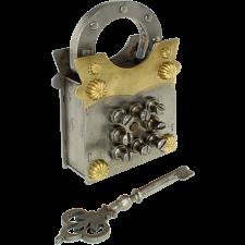 Sanyojan Puzzle Lock - Brass & Iron -