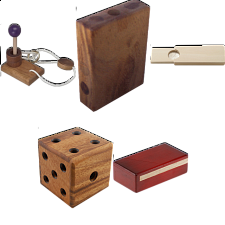 .Level 5 and 6 - a set of 7 wood puzzles -