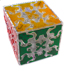 Gear Cube - Clear Body with embedded tiles -